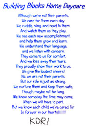 poem given to us by a sweet child we care for