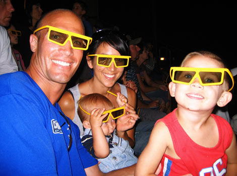 watching 3D movie at legoland