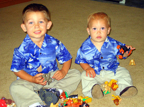 our presious children in matching shirts