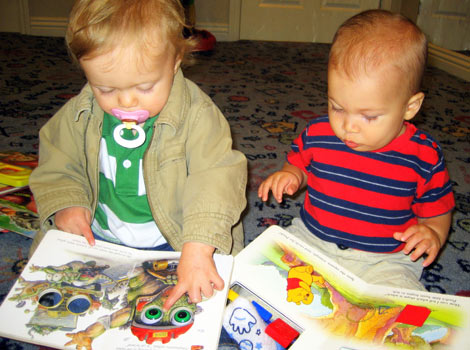 babies reading books